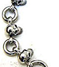 Heavy Set of 10 Silver Skulls Bracelet