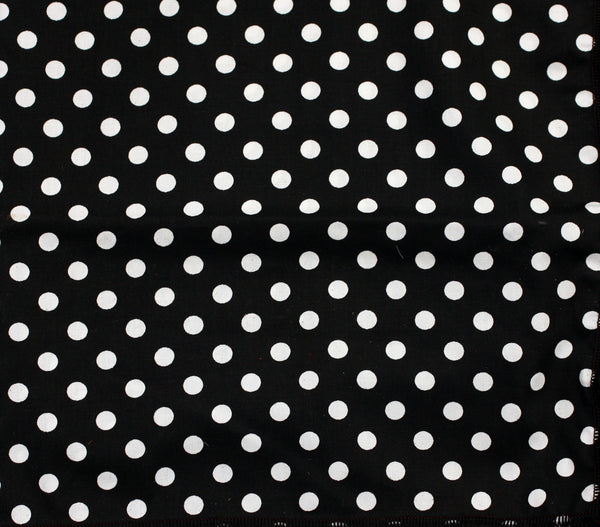 Black & White Polka Dot Bandana