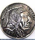 Large Liberty Dollar Silver Concho