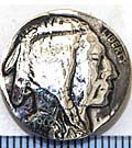 Small Liberty Dollar Silver Concho
