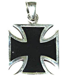 Medium Silver Iron Cross Pendant