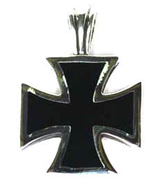 Small Silver Iron Cross Pendant