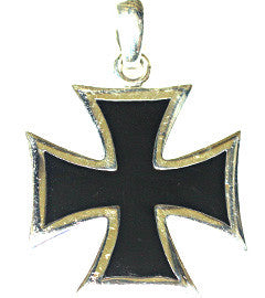 Medium-Large Silver Iron Cross Pendant