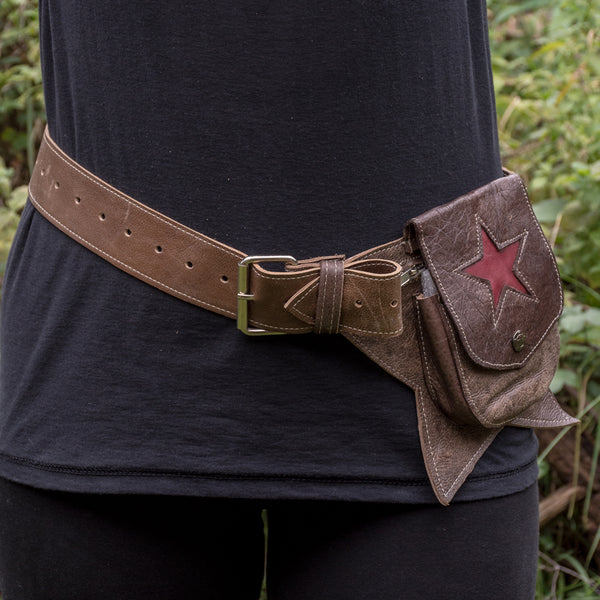 Red Star - Antique Brown Utility Belt