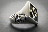 """13"" Ring with Skulls"