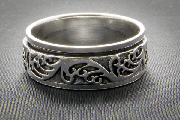 Elven Tree Design Spinner Ring