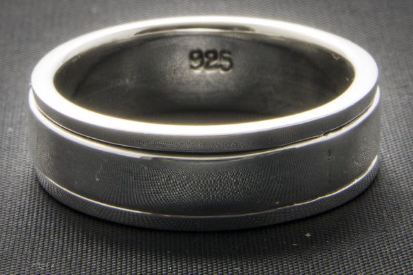 Square Edge Silver Spinner Ring