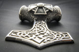 Small Celtic Thor's Hammer Pendant with Celtic Cross