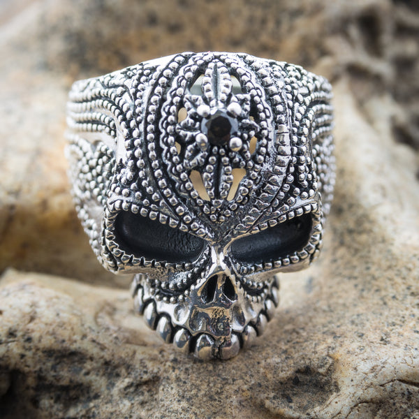 Flower Bindy Skull Ring