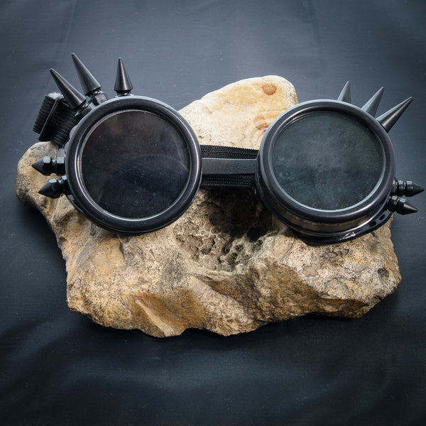 Spiked Cyber Goggles - Black