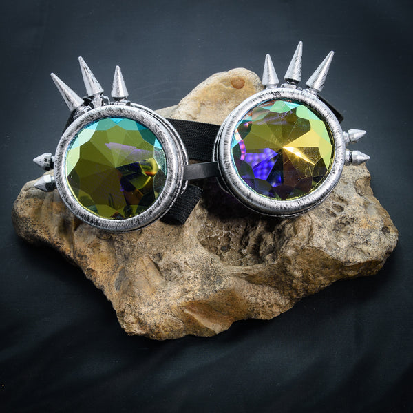 Spiked Cyber Goggles - Kaleidoscope