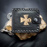Iron Cross Wallet - Light Snakeskin