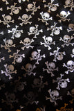 Heart of Darkness Silver Skull and Crossbones bandana