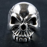 Polished Grimacing Skull Ring