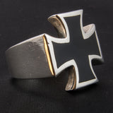 Black Iron Cross Ring
