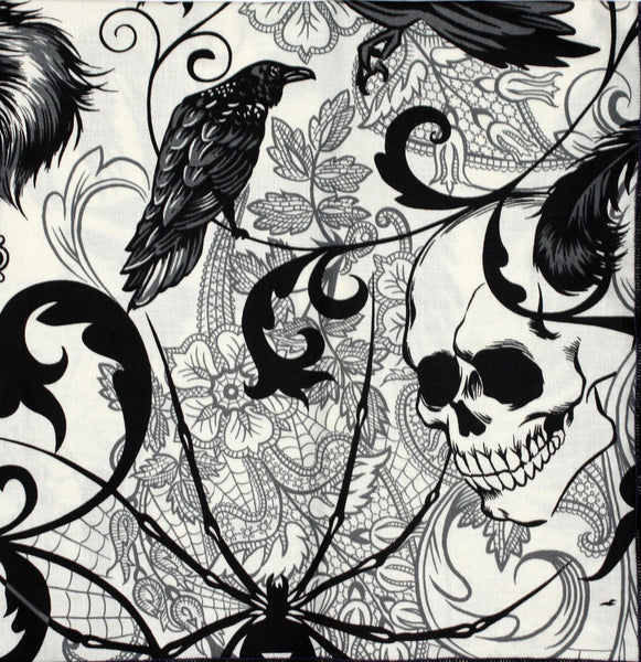 After Dark Skull and Raven Bandana