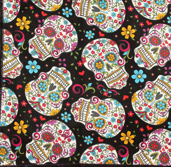 Day of the Dead 'Sugar Skulls' Bandana on Black