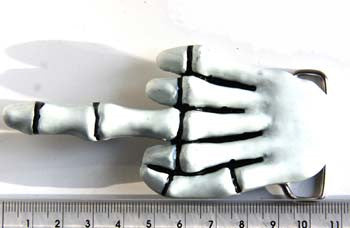 Skeleton 'Middle Finger' Fashion Buckle
