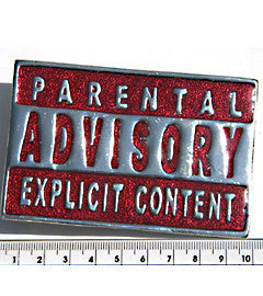 Parental Advisory (Red) Fashion Buckle