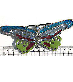 Multi Coloured Enamel Butterfly Fashion Buckle