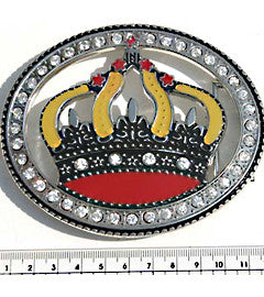 Diamante Royal Crown Fashion Buckle