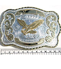 Flying Eagle Chrome & Gilt Plated Fashion Buckle