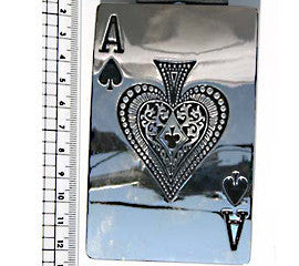 Large Ace of Spades Card Fashion Buckle