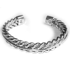 Heavy Rope Twist Bangle with Spine