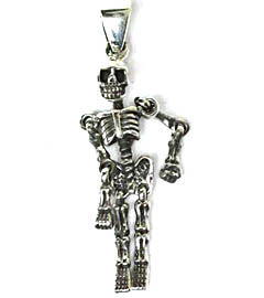 Silver Articulated Skeleton Pendant