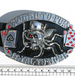 Loyal to None Skull Buckle