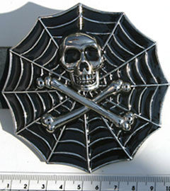 Spiders Web & Skull Buckle