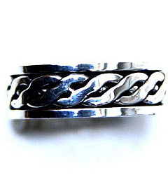 Silver Celtic Twist Spinner Ring