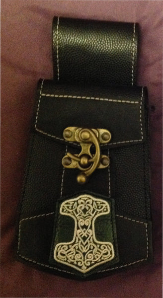 Celtic Hammer - White - Phone Pouch
