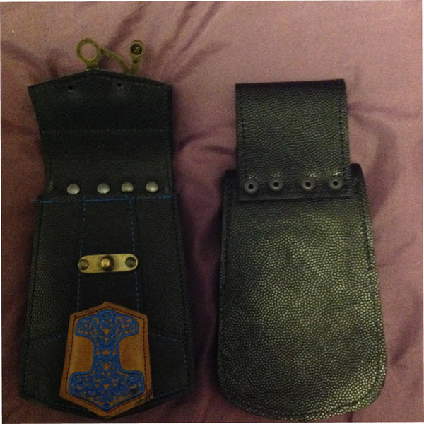 Celtic Hammer - Blue - Phone Pouch