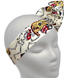 Day of the Dead Musicians Cream Twistband