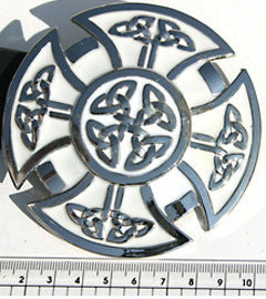 White Celtic Cross Buckle