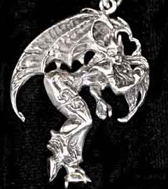 Dragon Lady Silver Dragon Pendant