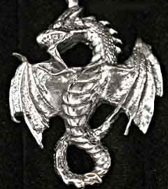 Flying Attack Silver Dragon Pendant