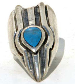 Egyptian Claw with Turquoise stone Finger Tip Ring