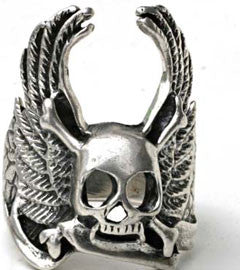 Death Eagle Skull Ring
