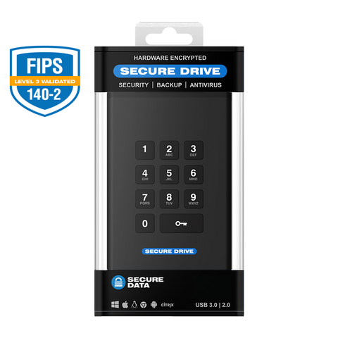 SecureDrive - KP Hardware Encrypted External Portable Drive
