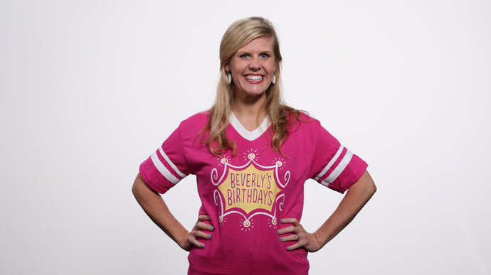 Beverly's Birthdays Magenta Logo T-Shirt
