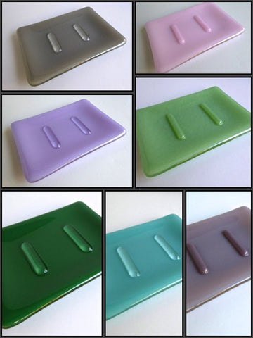 Fused Glass Soap Dish in Opaque Glass