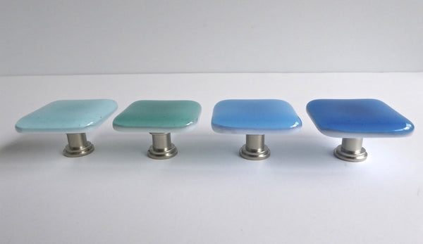 Spa Style Fused Glass Cabinet Door Knobs-1