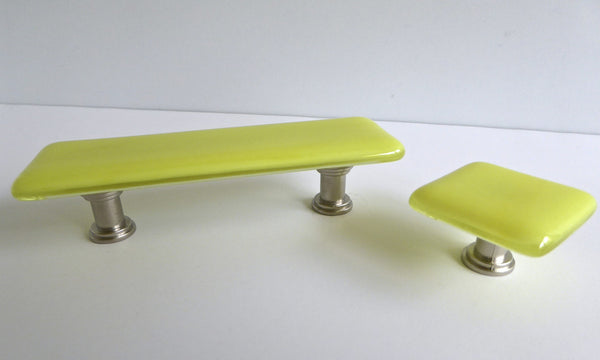 Bright Colors Fused Glass Cabinet or Drawer Pulls-4