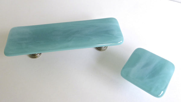 Streaky Fused Glass Cabinet or Drawer Pulls-5