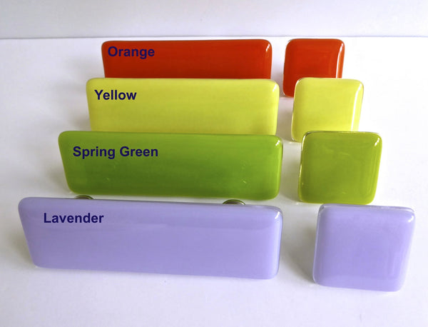 Bright Colors Fused Glass Cabinet or Drawer Pulls-2