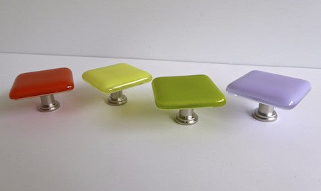 Bright Colors Fused Glass Cabinet Door Knobs-1