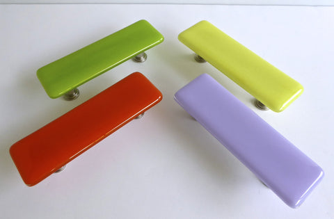 Bright Colors Fused Glass Cabinet or Drawer Pulls-1