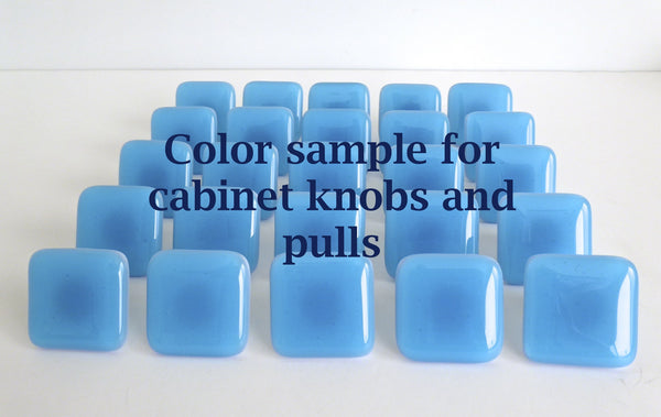 Color sample for Fused Glass Cabinet Door Knobs & Pulls-1